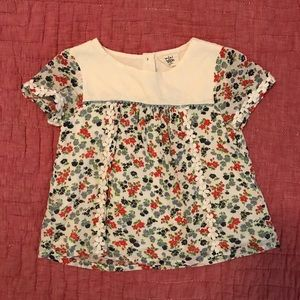Mini Boden Girls 7-8 Floral Blouse